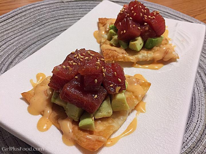 Ahi-Tuna & Avocado Wonton Crisps