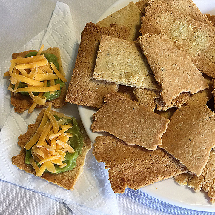 Crispy Almond Crackers